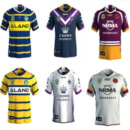 Wholesale marvel shipping - 2018 Brisbane Broncos Away rugby 2017-2018 Marvel iron man jersey Rugby Jerseys shirt S-3XL Free shipping rugby shirts size S - 3XL