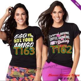 Wholesale woman screaming - woman T-Shirt Scream It Out Top Women sleeve tshirt yoga dance tops black white Free shipping