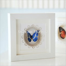 Wholesale photo frames favors - Free Shipping High Quality 3D Wooden Photo Frame Creative Butterfly Frame Wedding Decoration Home Favors (STPF-001)