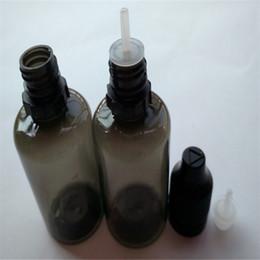 Wholesale Black Dropper Bottles - Wholesale 30ml PET Plastic Black E Liquid Bottles With Childproof Bottle Cap And Long Thin Tip Dropper Ejuice Bottles