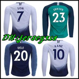 74c8de69c 18 19 Long sleeve KANE spurs Soccer Jersey Tottenhames Jerseys 2018 2019  LAMELA ERIKSEN DELE SON Football shirt