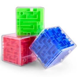 Детские игрушки онлайн-Новые детские пазлы Magic Maze Ball Интеллектуальное развитие 3D Going Beads Трехмерный лабиринт Cube Toys Puzzle Box Maze