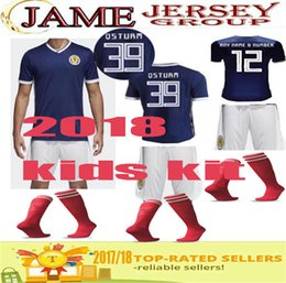 Wholesale Best Boys - Best Quality 2018 Scotland kids kit Soccer Jersey home blue 18 19 GRIFFITHS LUSTIG SINCLAIR BITTON BROWN children Home Football kits