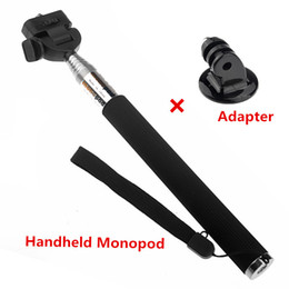 color selfie sticks Promo Codes - 3 Color Mini Selfie Stick Extendable Aluminium Handheld Monopod with Adapter For Gopro Hero Camera 3+ 4 5 6 iPhone Samsung Xiaomi Smartphone