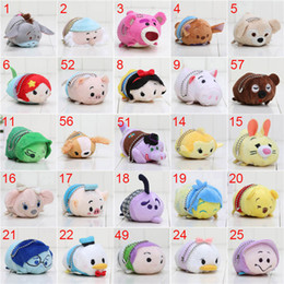 Wholesale Tsum Plush - 10pcs lot Mini Lovely TSUM TSUM toy Animal plush Doll Baby toys Alice Cinderalla Snow white keychain pendant free shipping