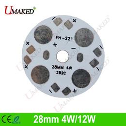 Wholesale 28mm Led - 28mm 4W 12W led aluminum plate base board, LED PCB board for downlight, bulb light. heat sink board Free shipping