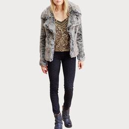 Wholesale Leather Sleeves Woman Parka - 2016 Casaco Feminino Winter Fur Women Long Coat Faux Leather Outwear Fake Fox Fur Collar Thick Warm Parka Coat