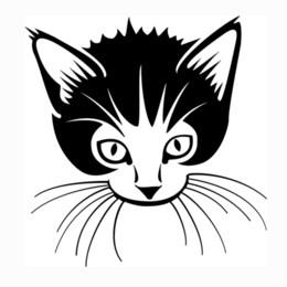 Wholesale Cat Laptop Decal - Cat Pet Animal Car Truck Window Wall Laptop Vinyl Decal Sticker Art Painting Car Stickers Vinyl Decor Decals