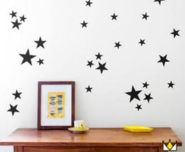 quarto de parede para crianças Desconto Estrelas Decalques Da Parede (39 Decalques) Adesivos de Parede Removível Decoração de Casa Fácil de Descascar Vara Pintada Paredes para o Bebê Crianças Quarto Do Berçário