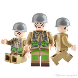 Wholesale Mini Worlds - 120pcs Military Series Minifig World War II Solider Russian Chinese German Japanese American French JZ1608 Mini Building Blocks Figures
