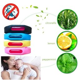 Wholesale red mosquitoes - Bracelet+Anti Mosquito Capsule Pest Insect Bugs Control Repellent Repeller Wristband For Kids Mosquito Killer 2-3Month Use