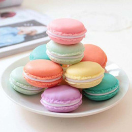 Wholesale Macaroon Boxes - Many Colors Macaroon Jewelry Box Package For Earrings Ring Necklace Pendant Small Jewelry Packaging PP TPE Material