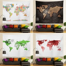 Wholesale Home Decoration Images - 130x150cm 100% Polyester High Quality Map Image Fast Delivery Factory Price Custom Size Wall Hanging Tapestry for Home Decorations