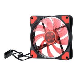 ventilateur pc 12v Promotion DC 12V 4Pin 3Pin 120 * 120 * 25mm 15 Lumières LED Silencieux Refroidisseur Ventilateur PC Ordinateur Châssis Cas Fan Ventilateur Radiateur De Refroidissement