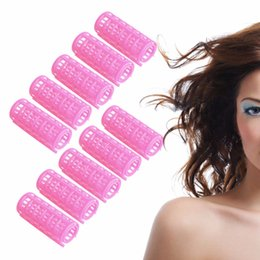 Wholesale Large Hair Curlers Rollers - 10x Hair Salon Curlers Rollers Tools Soft Large Hairdressing Tool Spiral Circle