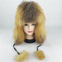 69550 Nueva moda Sombrero ruso Sombreros de piel de zorro natural Hombres y  mujeres Sombrero de invierno Sombreros de piel real Bomber Ofertas de  sombreros ... 4a8718fbbe5