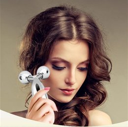Wholesale faces rotate - 3D Roller Massager 360 Rotate Silver Thin Face Full Body Shape Massager Lifting Wrinkle Remover Facial Relaxation Tool