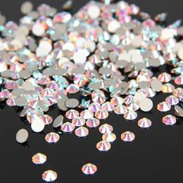 2019 chiare lucide pietre Super lucido SS3-SS34 Clear AB Glitter Non Hotfix Crystal AB Colore 3D Decorazioni per unghie Flatback Pietre strass Pietre Strass sconti chiare lucide pietre