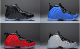 Wholesale men gif - Wholesale Penny Hardaway Sneakers Metallic Red Children Basketball Shoes 1Cent Training Footwear Mid Cut Kid Shoes Boys and Girls Gif