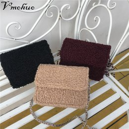 fluffy bags Promo Codes - VMOHUO New Arrival Winter Women Mini PU Leather Crossbody Bags Chain Shoulder Bag Designer Handbags Female Fluffy Messenger Bag