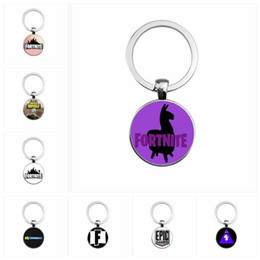 Wholesale Metal Men Movie - Creative Game Animation Keyring For Men And Women Key Buckle Practical Metal Fortnite Keychains Hot Sale 2 6ft B
