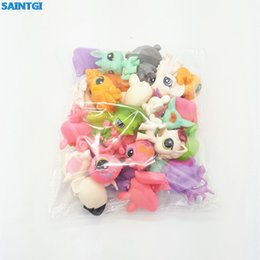 Wholesale Lps Animals - Saintgi Toy Bag 20pcs  Bag Random Little Pet Shop Lps Toys Animal Cartoon Cat Dog Action Figures Collection Kids Toys Gift