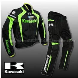 Wholesale Motorcycle Racing Suit Jacket - Latest KAWASAKI Kawasaki motorcycle racing suit popular brands windproof clothing warm clothes Blade riding suit
