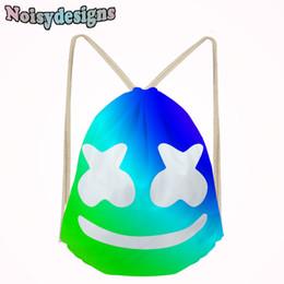 Famous Marshmello Pattern Printing Small Drawstring Pocket Bags Girls Boys  School Casual Bag Kids Sport Shoe Cases efe4352727812