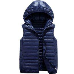Wholesale Wholesale Men S Waistcoats - Quality Branded Men's Winter Down Vests White Duck Down Padded Waistcoats Ultra Light Vests Women Waistcoats