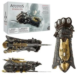 Assassins Creed Wristband Sleeve Swords Plastic Wristband Toy Gauntlet Cospaly da vestiti supereroi fornitori