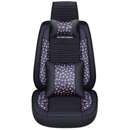2019 tampa do carro buick 5d protetor de assento de carro linho de couro lombar com colcha de assento do carro almofadas para bmw audi toyota buick