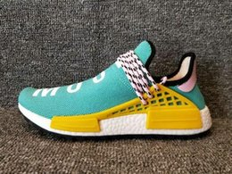 Wholesale Human Trainer - 2018 Hot Wholesale Human Race Being HU HUMAN RACE SPIECES Men Sports Shoes Pharell Williams Women Trainer Footwear