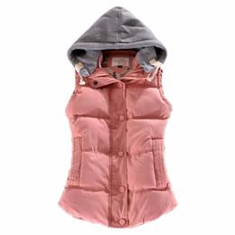 2017 Marca de Invierno Chaleco de Las Mujeres Delgado Chaleco de Algodón para Las Mujeres Coletes Chaleco Femenino Chaqueta de la Capa de Color Rosa Calientes Ropa de Abrigo 7 Color desde fabricantes