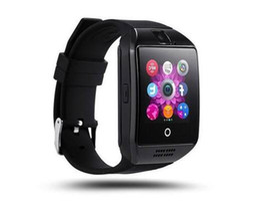 Argentina Q18 Reloj inteligente 4 colores Relojes Bluetooth Android con 0.3M Cámara MTK6261D Smartwatch para teléfono android Tarjeta Micro SIM TF Hombres Deportes supplier color card camera Suministro
