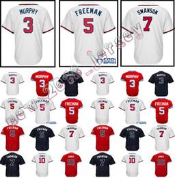Mens Atlanta 5 Freddie Freeman 7 Dansby Swanson 13 Ronald Acuna Jr. Baseball  jersey 10 Chipper Jones 3 Dale Murphy Stitched jerseys 851b64f3a
