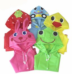 Wholesale Children Rainwear - Cartoon Funny Rain Coat Kids Children Raincoat Animal Rainwear Rainsuit Kids Waterproof Animal Raincoat 5 color