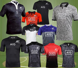 Wholesale rugby homes - all Free Shipp New Zealand 17-18 blacks rugby jersey 2017 home away red men rugby shirts NZ blacks Maori 100th years special edition jerseys