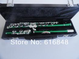 professionelle okarina Rabatt Schöne Grüne Flöte 16 Loch Geschlossene Nickel Silber Schlüssel Plus Die E Key Obturator Flöte Instrument Für studenten Mit Box Kostenloser Versand