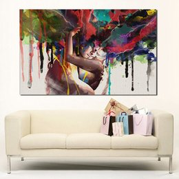 Wholesale Art Abstract Painting Oil Lover - Lovers Oil Painting Wall Art Canvas Decorative Living Room Painting Wall Painting Picture No Frame