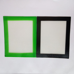 Wholesale food grade rubber - 500pcs lot 102x127mmFDA approved Food grade small non-stick slick oil silicone mat dab bho wax mat with silicone and fibreglass construction