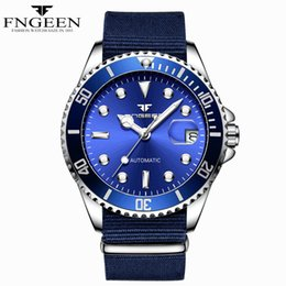 Wholesale hour hand men - Navy Blue Automatic Watch Date Luminous Hands and Hour marker High quality Mechanical Watches For Men