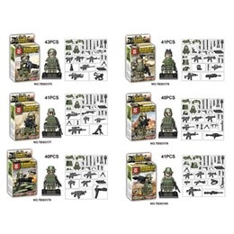 Wholesale military model building - 2018 New Design Mini Soldiers Troops Figure Model Bricks Military Building Blocks Toys Armed Forces Children's Gifts