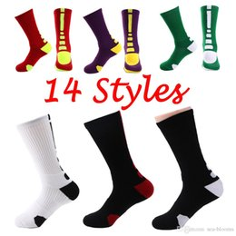 Wholesale terry towel socks men - Free DHL Solid Elastic Mens Compression Socks Terry Crew Sock Cotton Breathable Professional Towel Bottom Knee Long Socks Men G501S
