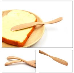 Queso verde online-Cuchillo de queso de madera natural Nuevo arrivel Pan de madera Espátula de mantequilla Cuchillo de mantequilla de protección ambiental y verde
