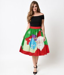 Discount spring summer dress women floral - Women Casual Dress Fashion Skirt Santa Claus Christmas Festival Pattern Size S-XL