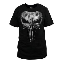 2020 punisher 3xl t shirts Hombres Moda The Punisher Camiseta Daredevil Punisher Algodón Casual Manga corta Venta al por mayor Tops Camisetas para hombres T -Camisas punisher 3xl t shirts baratos