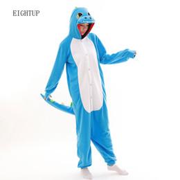 Felpa unisex per adulto Animal Blue Onesies di dinosauro Green Dragon Pigiama Pigiama Tuta Abbigliamento da notte Costumi di carnevale cosplay da