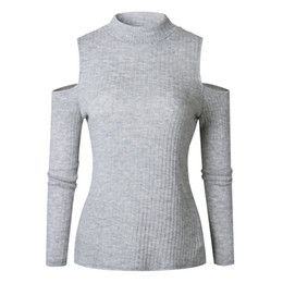 Argentina otoño e invierno sexy sin tirantes de cuello medio alto camisa que basa la reparación apretada flaco XL suéter ropa de mujer Suministro