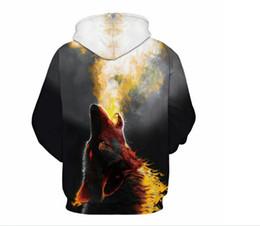 Moda león con capucha camisetas hombres / mujeres parejas impreso 3d kanye sudaderas con capucha Casual gráfico divertido Sudadera camisa tie-dye Sudadera tops S-3XL desde fabricantes