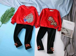 Wholesale Boys Brother - new coming boys Girls Christmas Outfits brother and sister Clothing Set Brand Baby Girls Winter Clothes Kids Tracksuit Children Sets